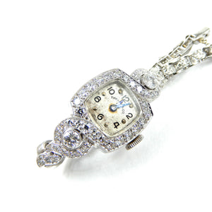 Tiffany watch antique with diamonds