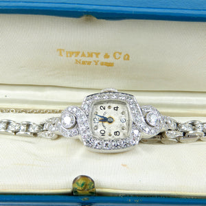Estate Tiffany's Platinum & Diamond Watch