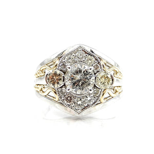 Diamond Dream Ring with Scrollwork accents
