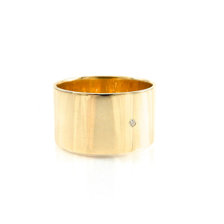 wide yellow-gold wedding ring