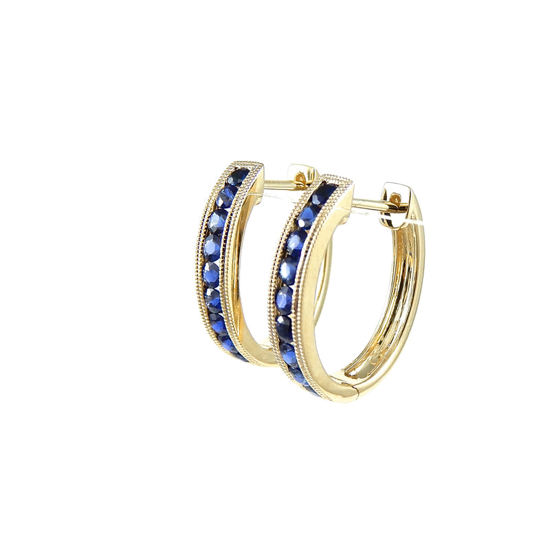 .82 sapphire hoop earrings 14k yellow-gold