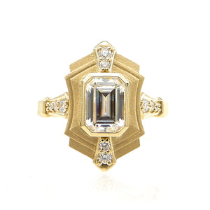 art deco custom engagement ring
