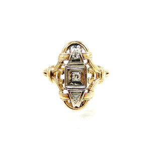 Antique Three Stone Diamond Ring