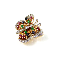 Load image into Gallery viewer, Diamond & Gemstone Butterfly Pendant