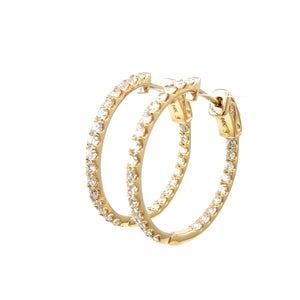 Medium inside and out hoops earrings
