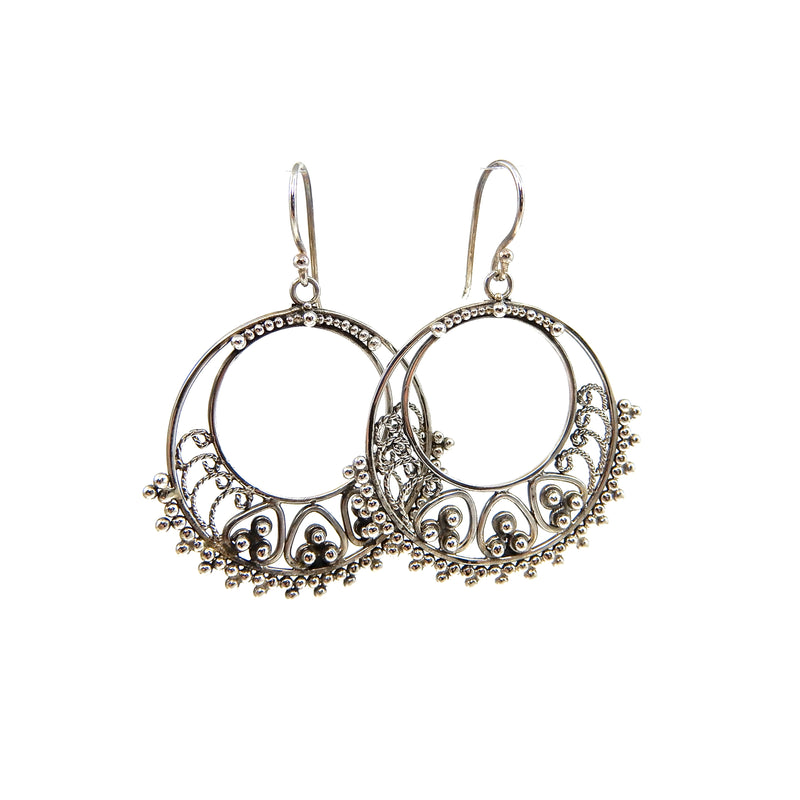 Bali Hand Filigree Earrings