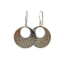 Load image into Gallery viewer, Bali Classic Dots Flat Round Earrings