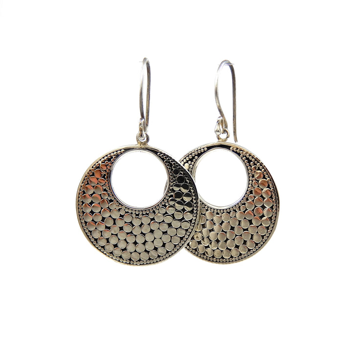Bali Classic Dots Flat Round Earrings