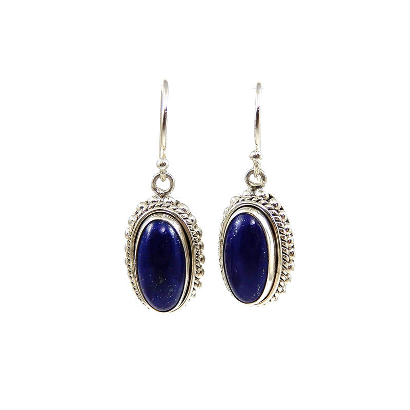 Bali Lapis Drop Earrings