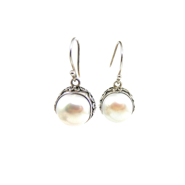 Bali Freshwater Pearl Earrings