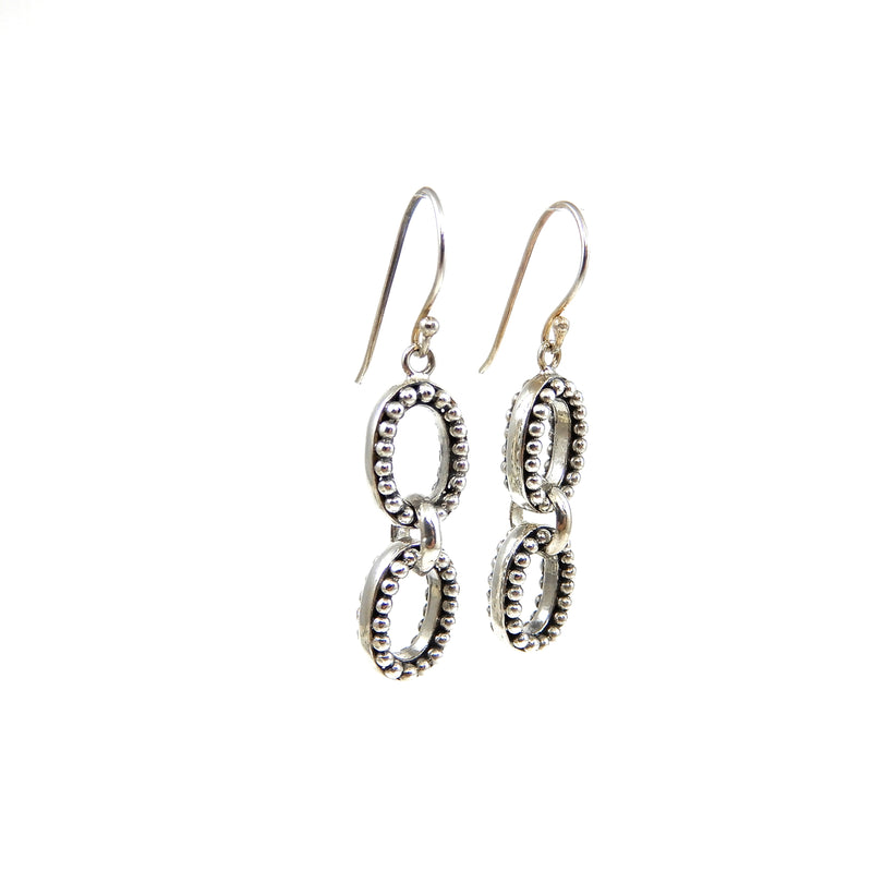 Bali Oval Drop Earrings