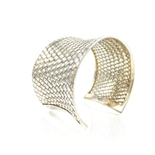 Load image into Gallery viewer, Sterling Silver Woven Cuff Bracelet