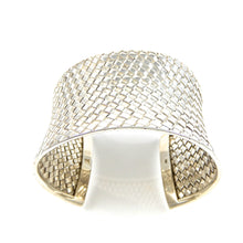 Load image into Gallery viewer, Sterling Silver Bali Woven Cuff Bracelet