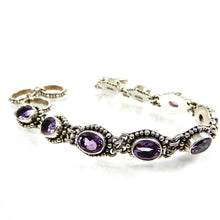 Load image into Gallery viewer, Bali Oval Gemstone Bracelet