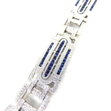 Load image into Gallery viewer, Art Deco Diamond and Sapphire Bracelet
