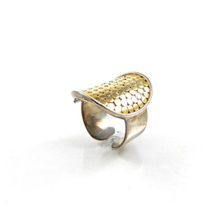 Bali Dots Ring with 18K Vermeil Accents