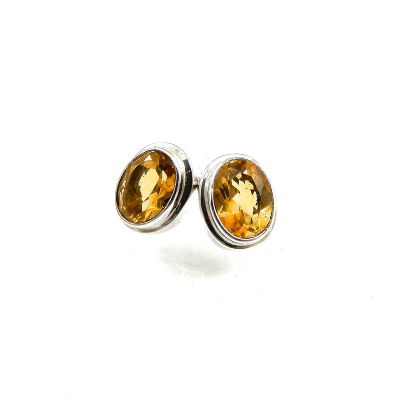 Bali Gemstone Stud Earrings