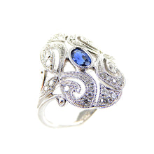 Load image into Gallery viewer, Sapphire Antique style