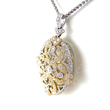 Load image into Gallery viewer, Diamond Two Tone Filigree Pendant