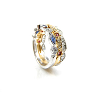 Elegant Stackable Diamond & Gemstone Rings