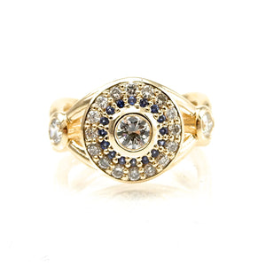 Sapphire & Diamond Wedding Ring