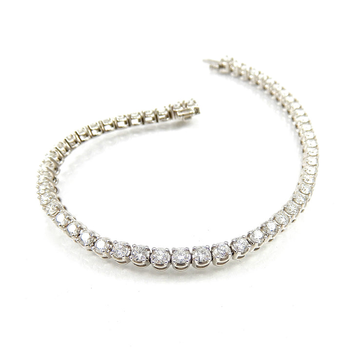 Prong-set Diamond Tennis Bracelet