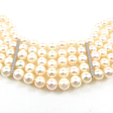 Load image into Gallery viewer, Handcrafted Pearl & Diamond Bracelet