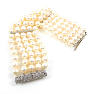 handcrafted pearl and diamond Bracelet