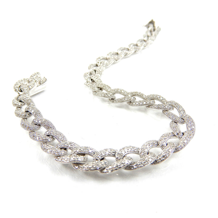 Diamond Curb Chain Bracelet