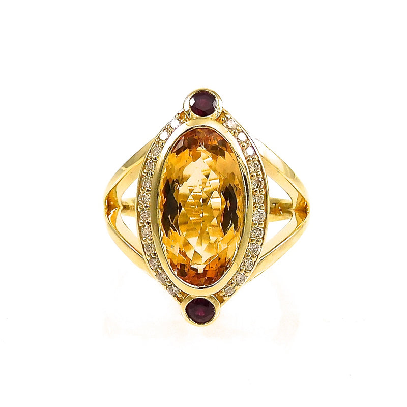 Glow Topaz & Ruby Ring