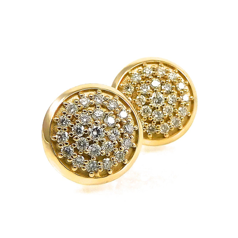 Pave Diamond Stud Earrings