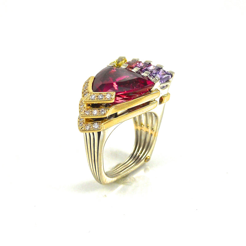 Design Award Winner Multi gemstone ring