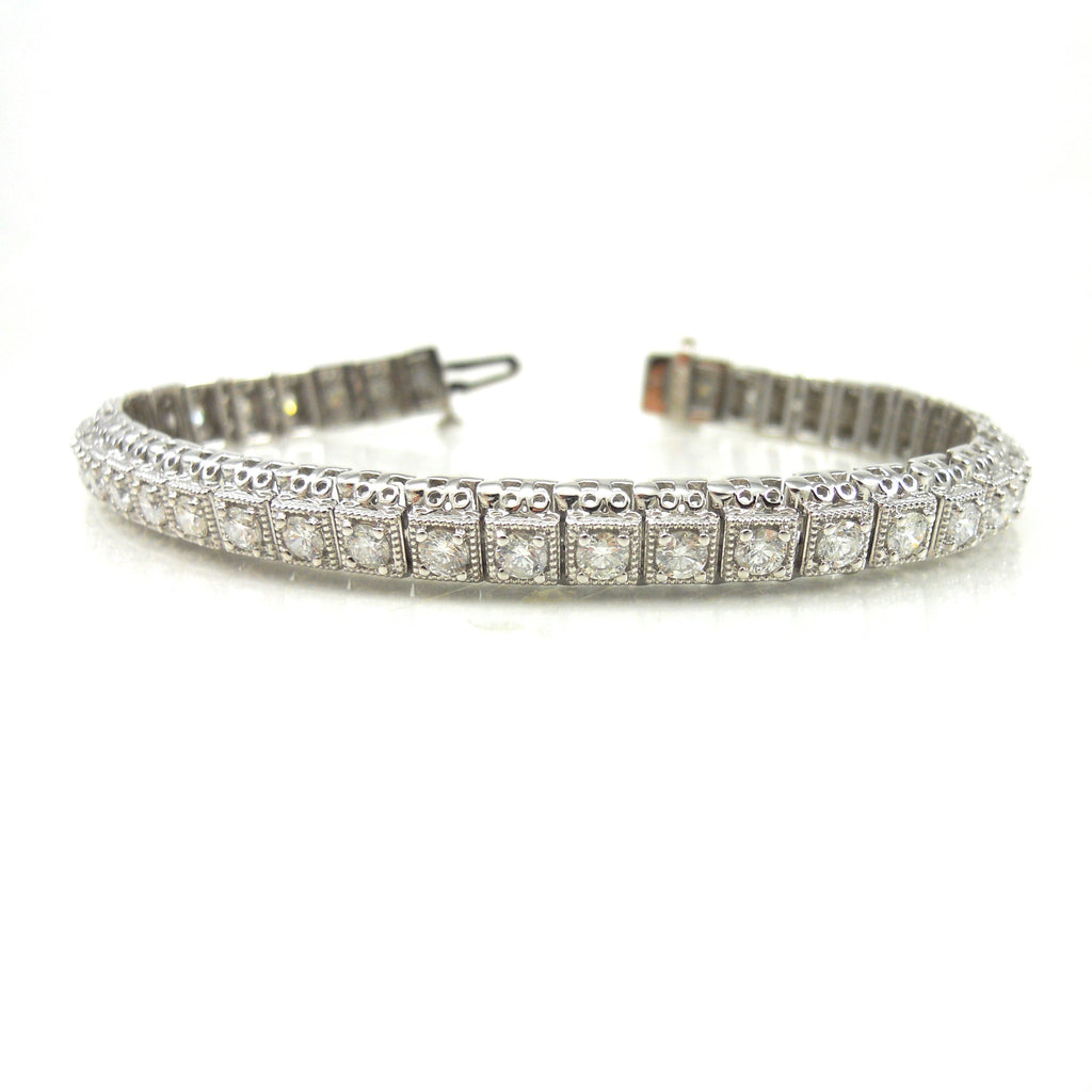 4ct Antique Diamond Tennis Bracelet