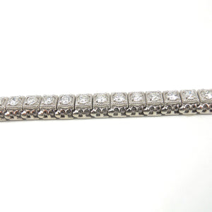 Filigree Diamond Tennis Bracelet