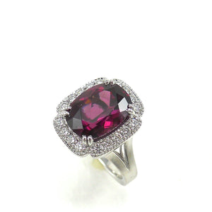 handcrafted Raspberry Garnet Ring