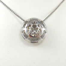 Load image into Gallery viewer, 14k White Gold Diamond Double Halo Pendant Custom Made