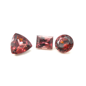 TKA's personal gemstone collection of Red Zircons