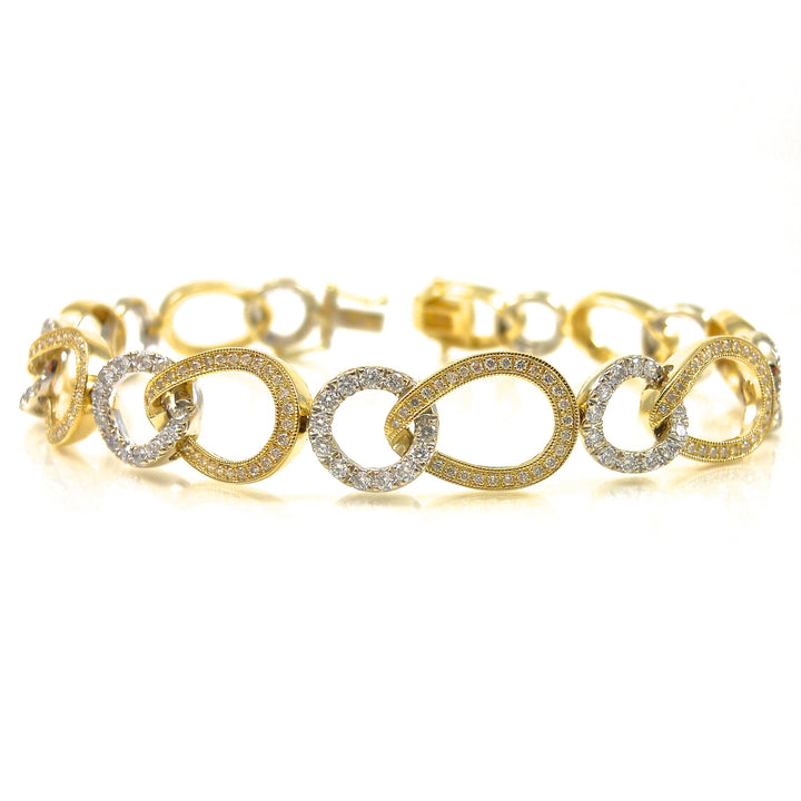14k white and yellow-gold bracelet
