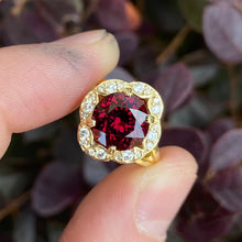 Load image into Gallery viewer, Victorian Rhodolite Ring