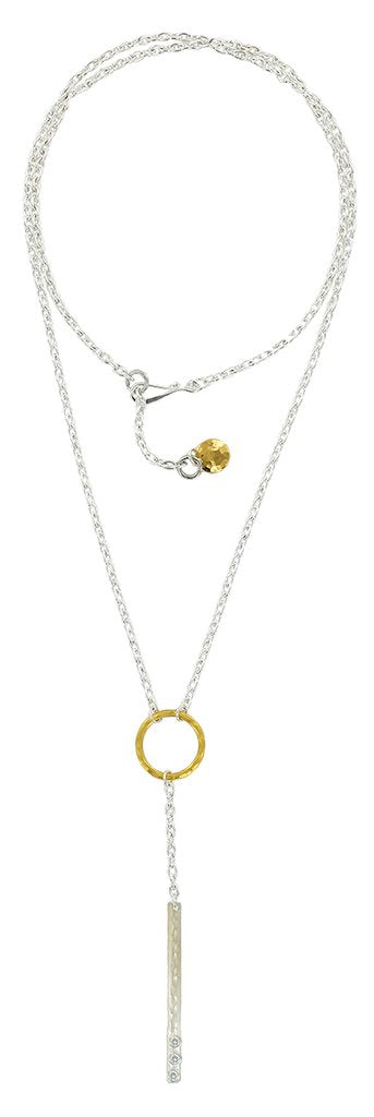 STERLING SILVER AND GOLD VERMEIL NECKLACE