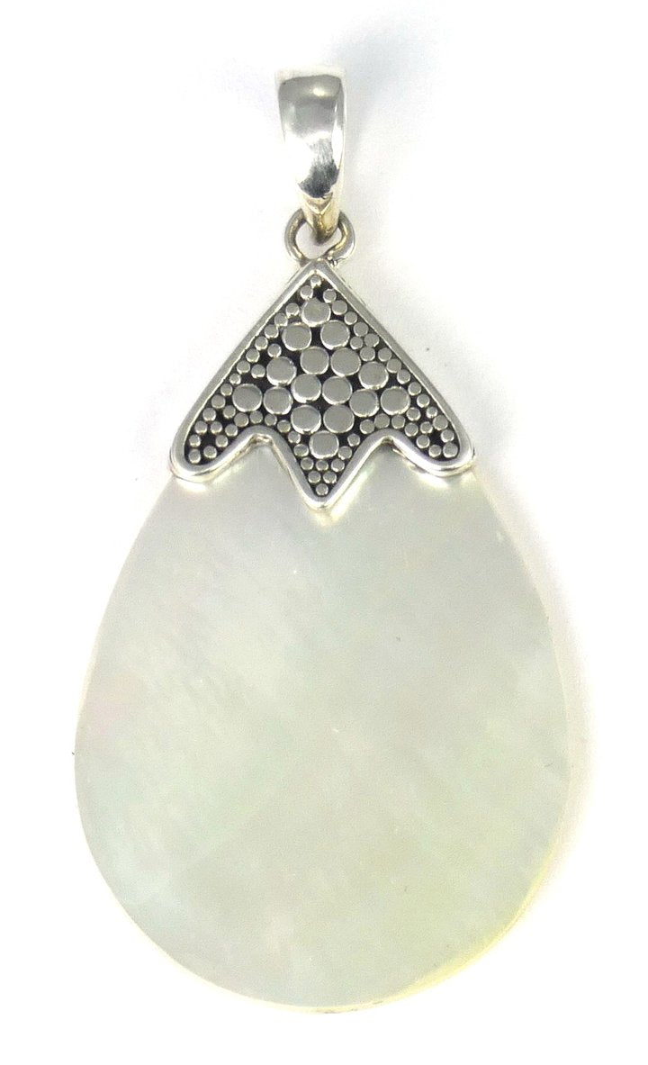 Bali Sterling Silver Mother of Pearl Pendant