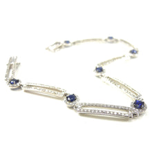 Load image into Gallery viewer, Sapphire and Diamond Bracelet