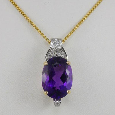 Two-tone Golden Amethyst Pendant