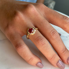 Load image into Gallery viewer, TK Anderson's Ruby & Diamond Halo Ring