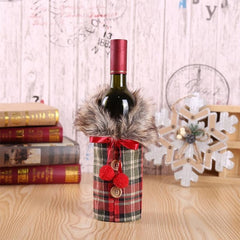 Wine Bottle Cover Christmas Decorations - ShopLess