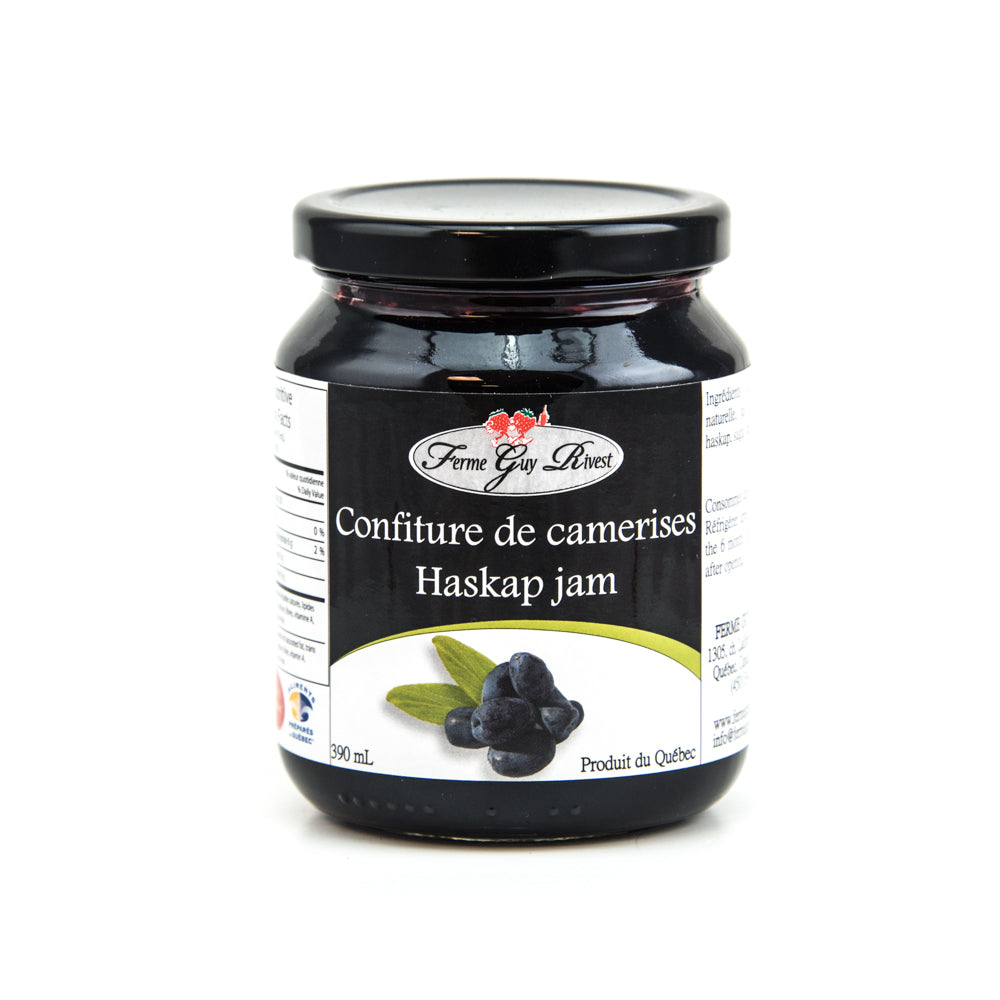 Confiture de camerises 390 ml La Ferme Guy Rivest