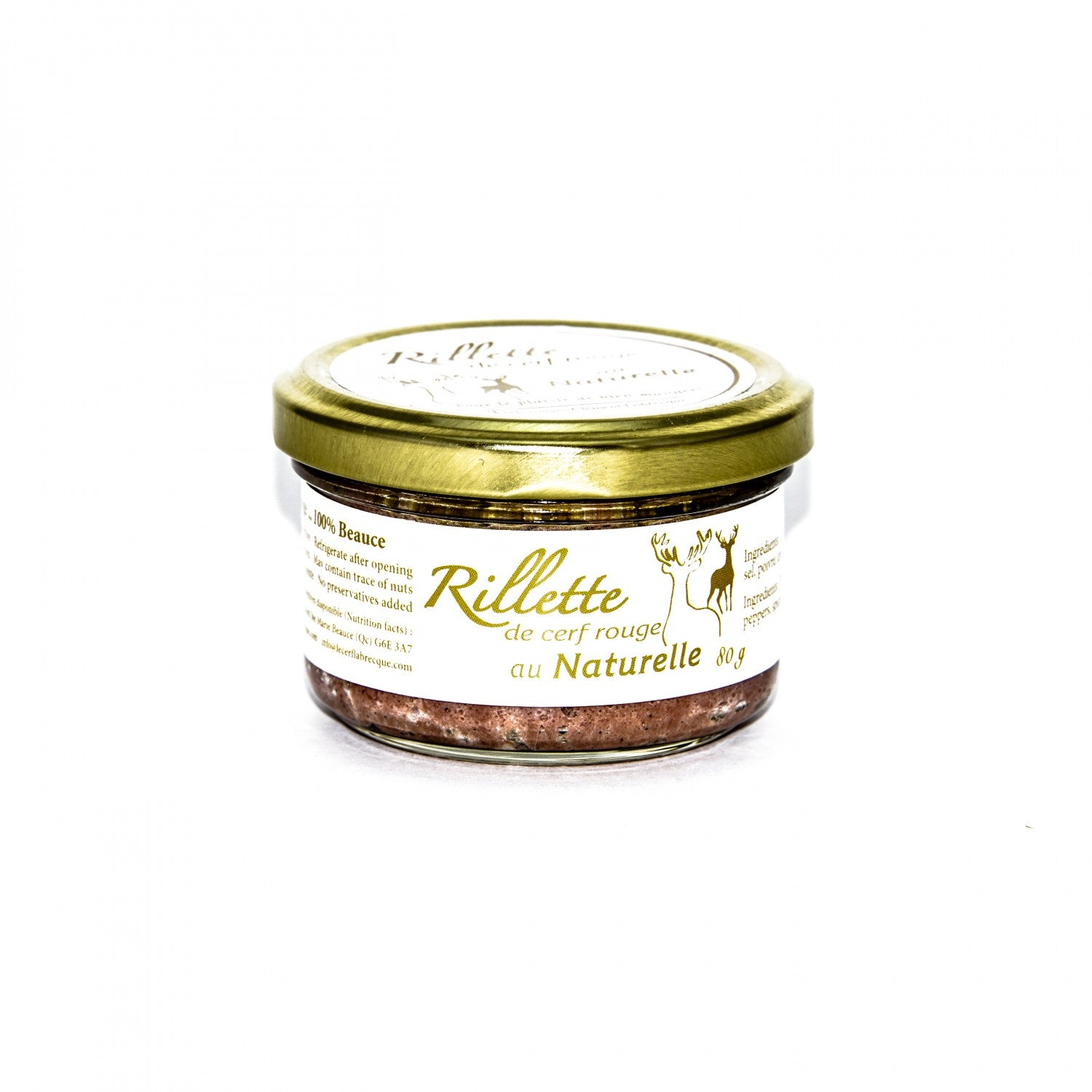 Rillette cerf rouge - Au naturelle