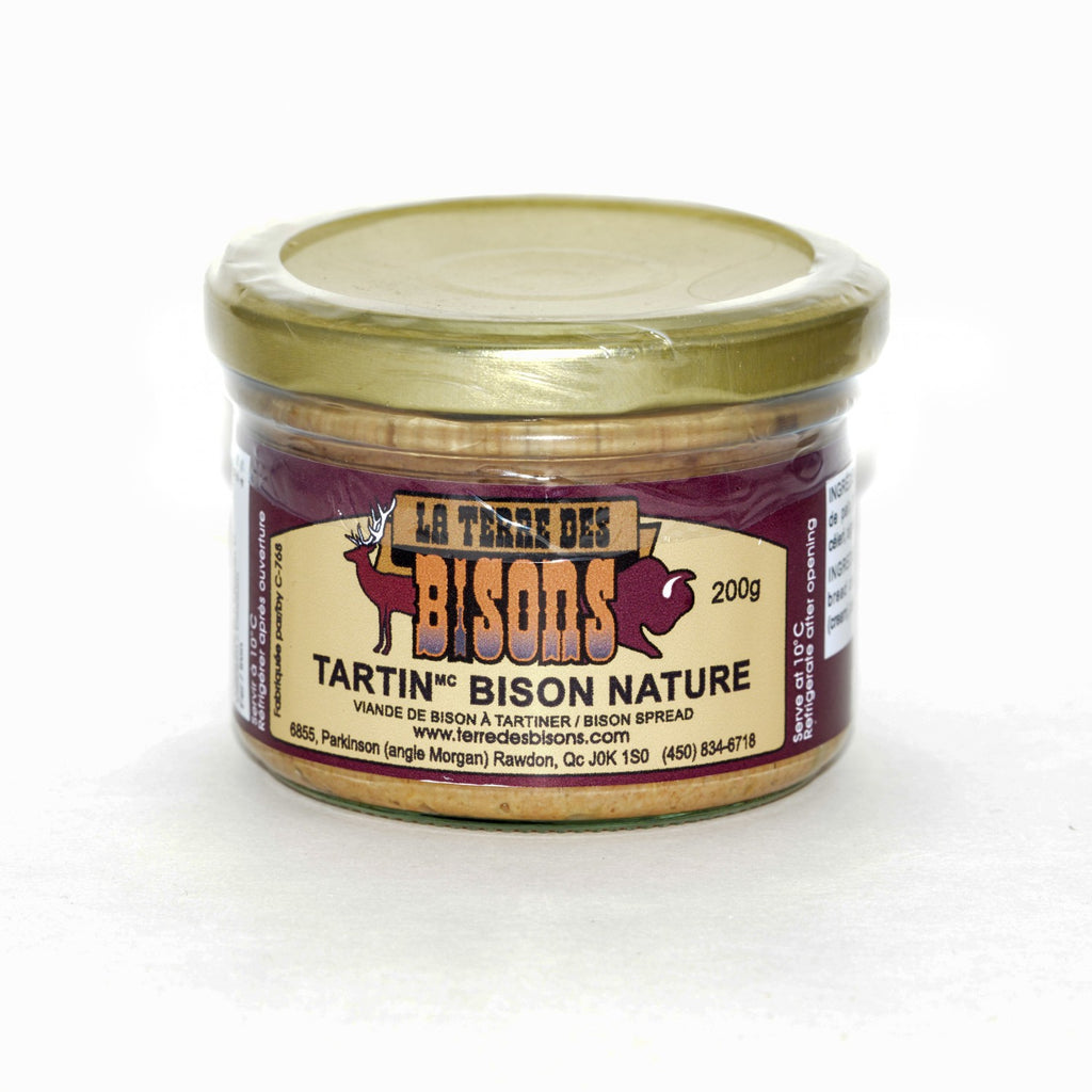 Tartin de bison nature