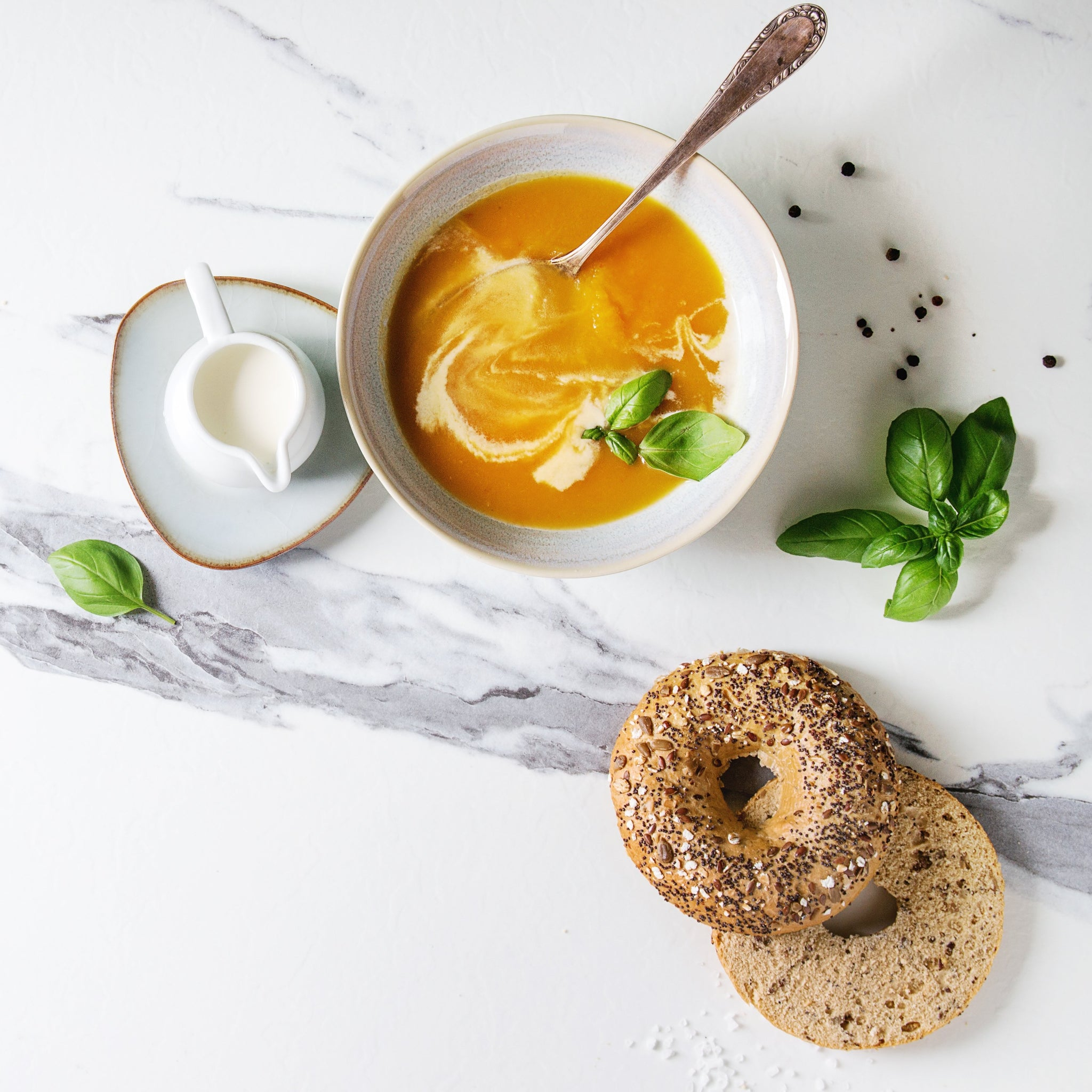 Potage et bagel forestier (Atelier virtuel)
