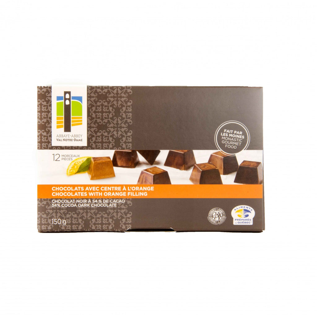 Chocolats avec centre à l'orange 12un